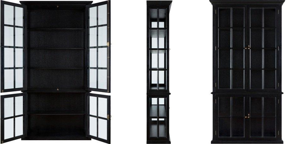 Шкаф-витрина French black   - фото 2