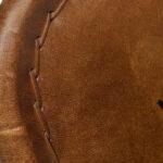 Складной кожаный стул Industrial Folding buffalo leather chair   - фото 3