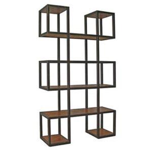 Стеллаж Industrial Loft Metal Wood Block