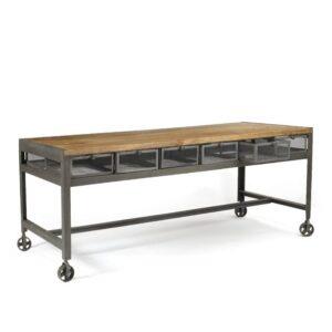 Стол Industrial Metal Metropolitan Work Table