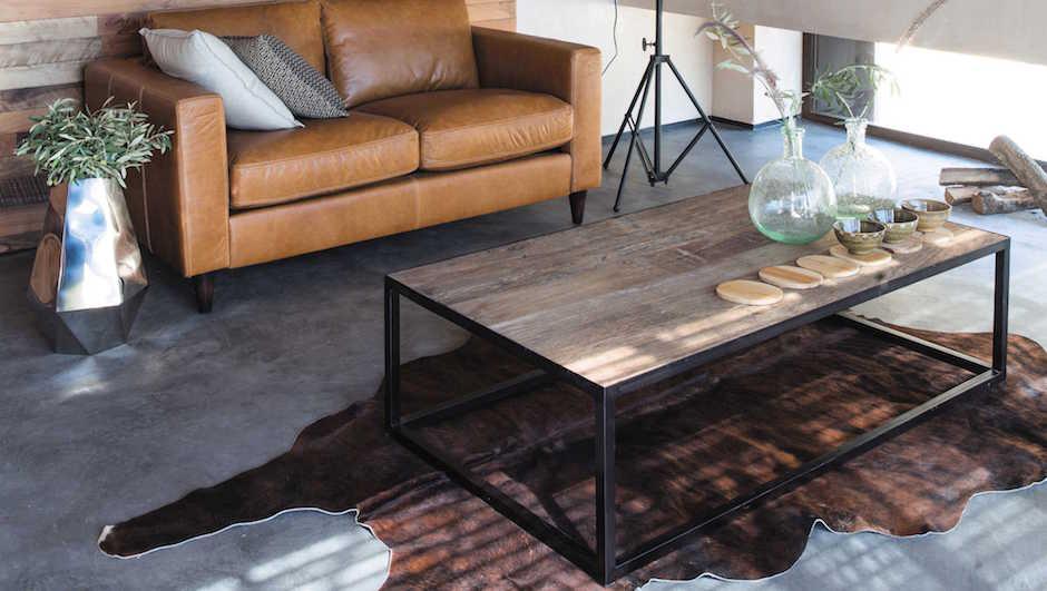 Стол Industrial Minimal Coffee Table 130   - фото 2