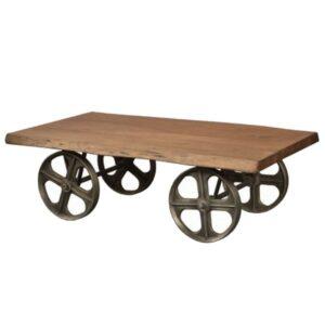 Стол на колесах Industrial Coffee Table on Wheels