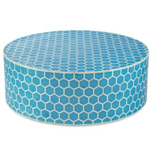 Стол бирюзовый кость верблюда Bone Inlay Honeycomb Coffee Table