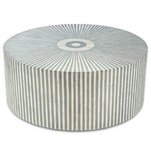 Стол кофейный отделка перламутр BONE INLAY COFFEE TABLE Grey Stripe