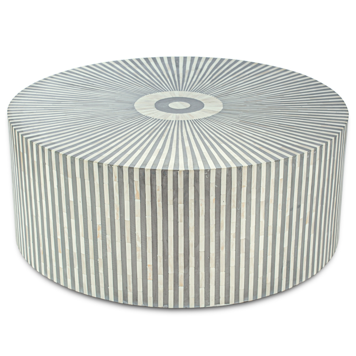 Стол кофейный отделка перламутр BONE INLAY COFFEE TABLE Grey Stripe  - фото 1