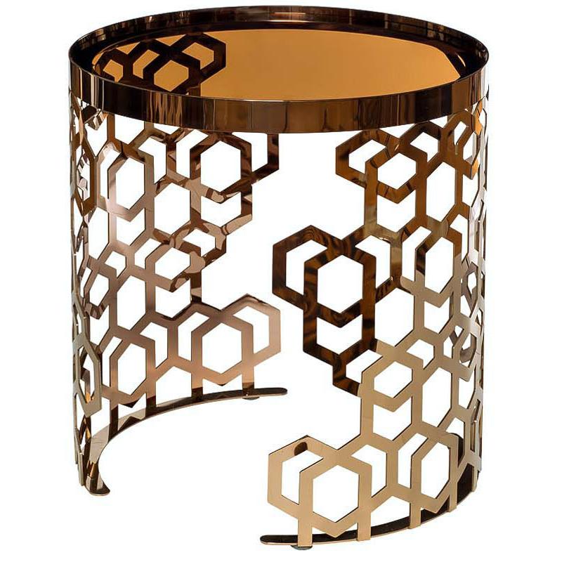 Стол Yen Geometry Table Pink Gold 50  - фото 1