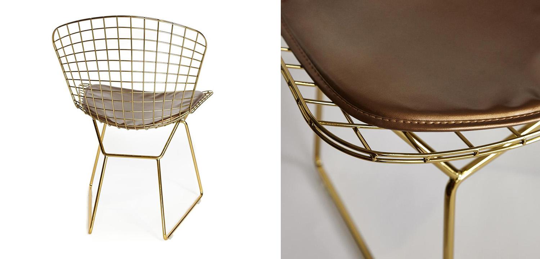 Стул Bertoia Side Chair gold  - фото 3