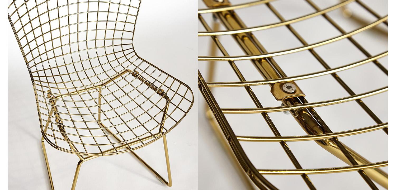 Стул Bertoia Side Chair gold  - фото 2