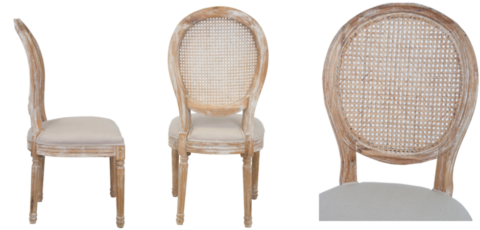 Стул French chairs Provence Beige Rattan 2 Chair   - фото 2
