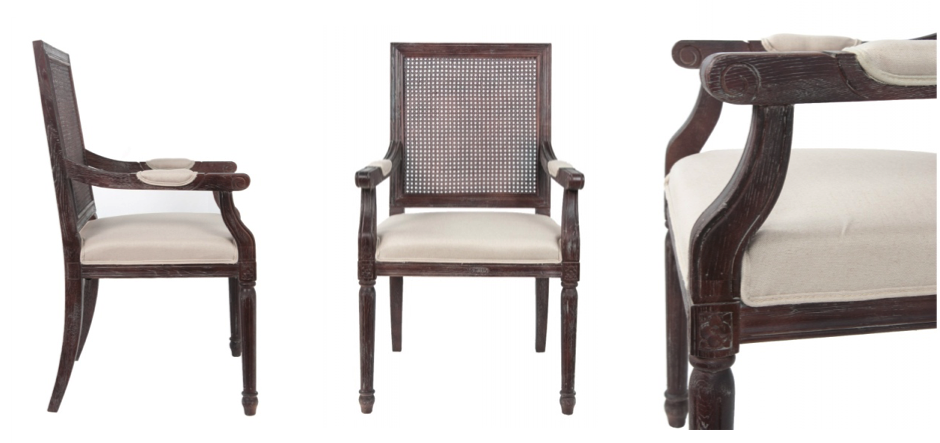 Стул French chairs Provence Garden Brown ArmChair   - фото 2