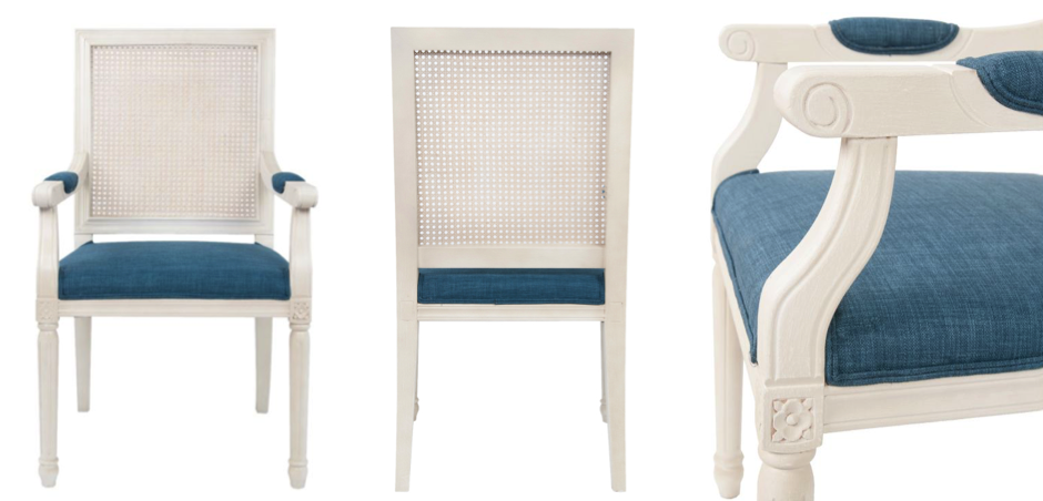 Стул French chairs Provence Garden White ArmChair   - фото 2