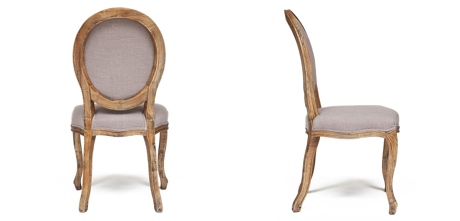 Стул French vintage chair Provence gray  - фото 3