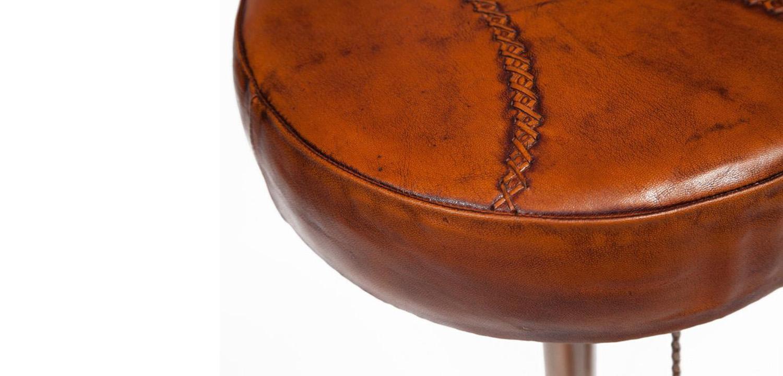 Стул с педалями от велосипеда со спинкой Buffalo Leather Industrial Chair   - фото 4
