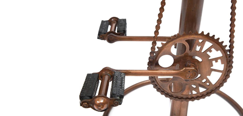 Стул с педалями от велосипеда со спинкой Buffalo Leather Industrial Chair   - фото 3