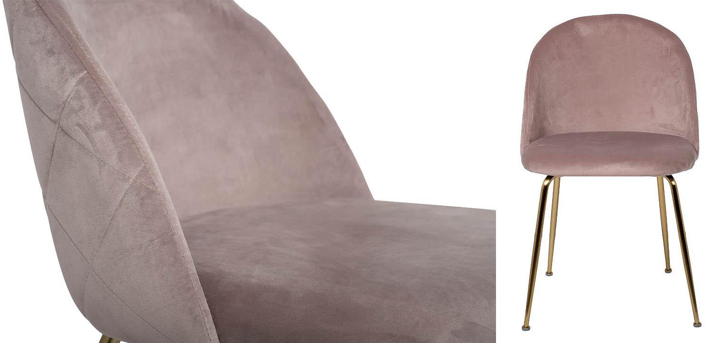 Стул Sadler Chair pink velor  - фото 2