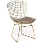 Стул Bertoia Side Chair gold  - фото 1