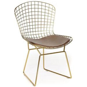Стул Bertoia Side Chair gold