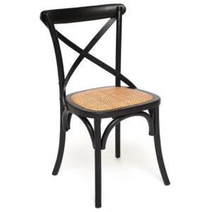 Стул Chaise Provence en Bois noir черный