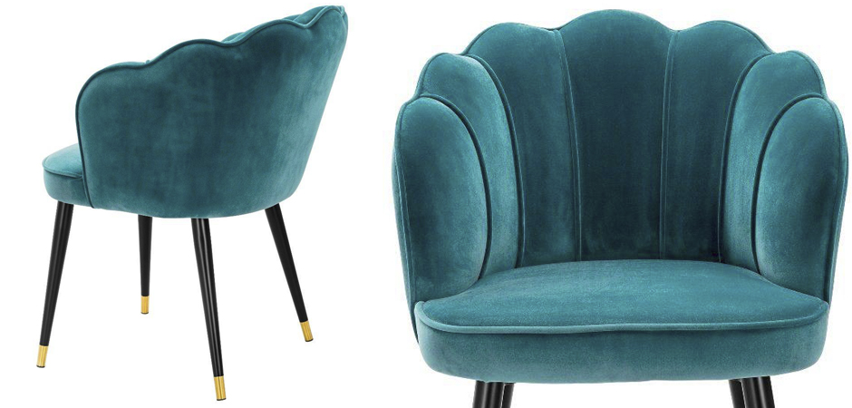 Стул Eichholtz Dining Chair Bristol sea green  - фото 3