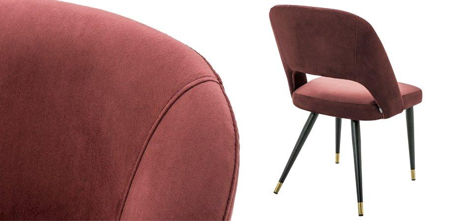 Стул Eichholtz Dining Chair Cipria Bordeaux  - фото 2