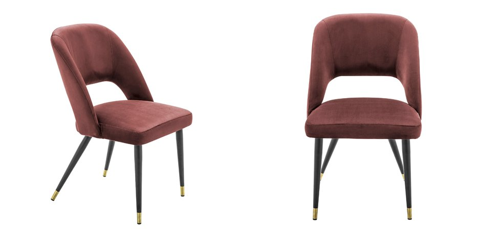 Стул Eichholtz Dining Chair Cipria Bordeaux  - фото 3