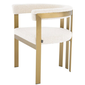 Стул Eichholtz Dining Chair Clubhouse boucle cream