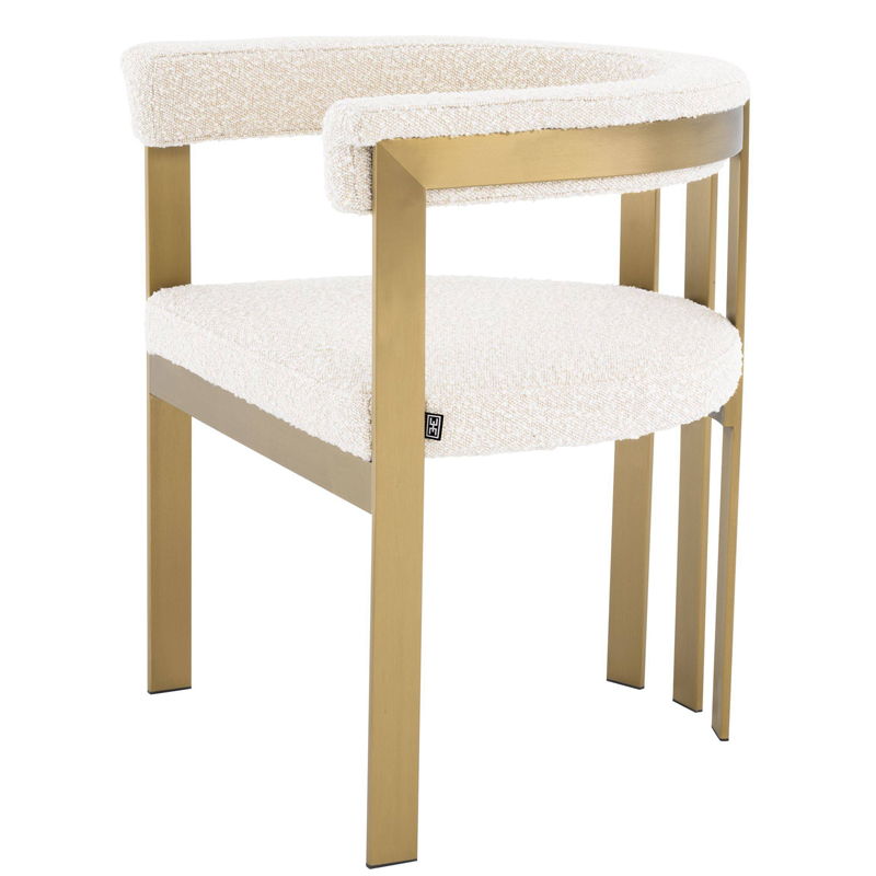 Стул Eichholtz Dining Chair Clubhouse boucle cream  - фото 1