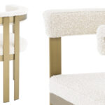 Стул Eichholtz Dining Chair Clubhouse boucle cream  - фото 2