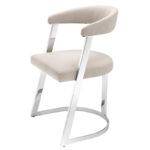 Стул Eichholtz Dining Chair Dexter Nickel  - фото 1