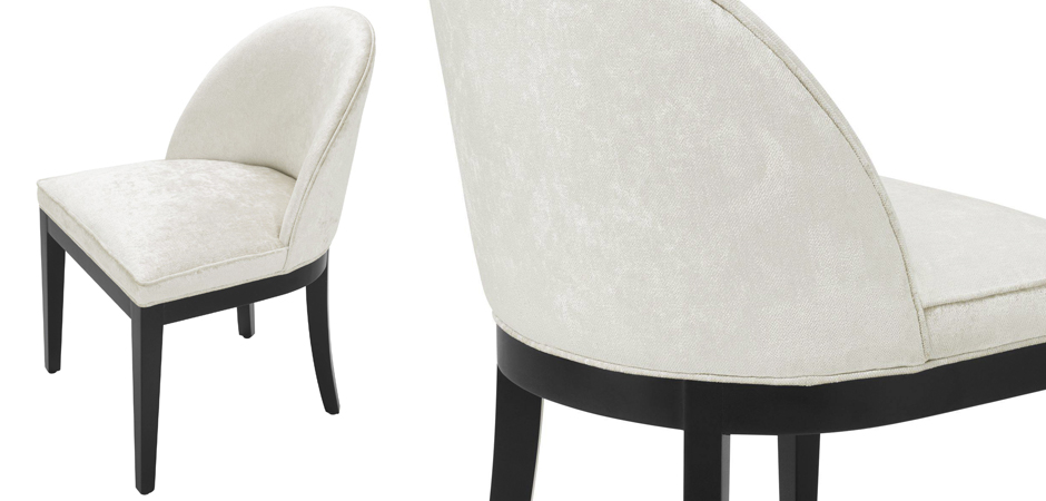 Стул Eichholtz Dining Chair Fallon Mirage off-white  - фото 2