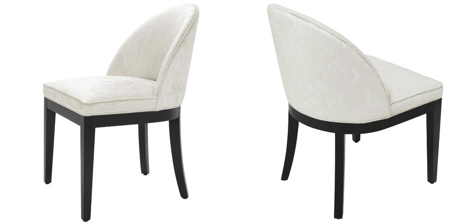 Стул Eichholtz Dining Chair Fallon Mirage off-white  - фото 3
