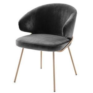 Стул Eichholtz Dining Chair Kinley dark grey