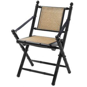 Стул Eichholtz Folding Chair Bolsena Black
