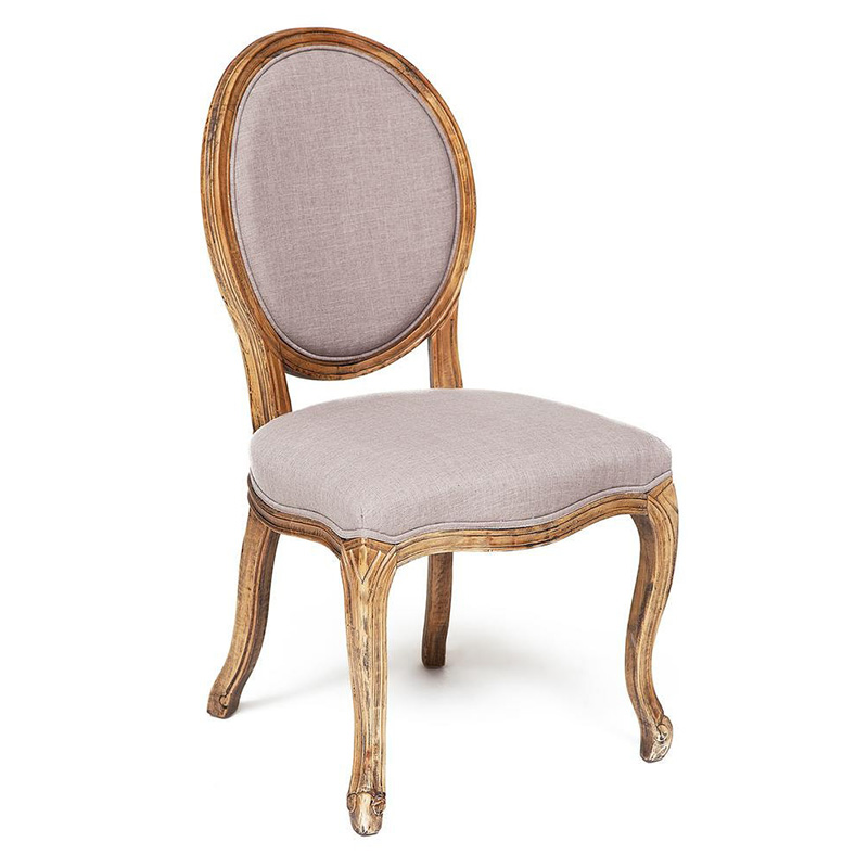 Стул French vintage chair Provence gray  - фото 1