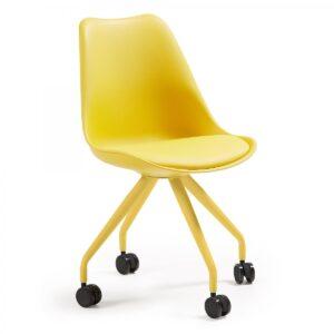 Стул на колесиках Pure Color Yellow