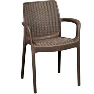 Стул Plastic chair brown