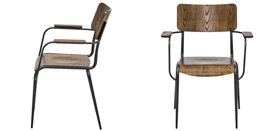 Стул с подлокотниками Joshua Loft Stool with armrests  - фото 3