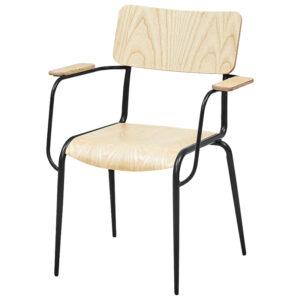 Стул с подлокотниками Joshua Loft Stool with armrests light