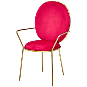 Стул с подлокотниками STAY Chair Fuchsia