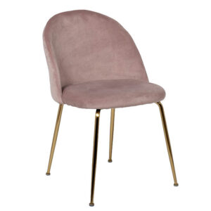 Стул Sadler Chair pink velor