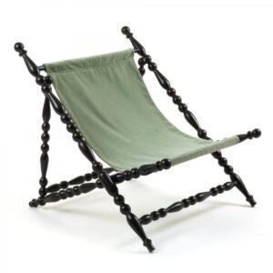Стул Seletti Heritage Foldable Deckchair Green