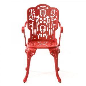Стул Seletti Industry Collection ALUMINIUM ARMCHAIR – RED