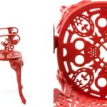 Стул Seletti Industry Collection ALUMINIUM ARMCHAIR – RED  - фото 4
