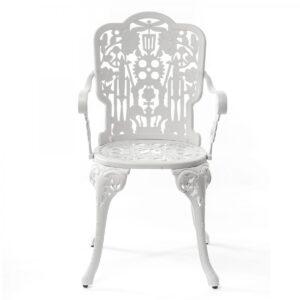 Стул Seletti Industry Collection ALUMINIUM ARMCHAIR – WHITE