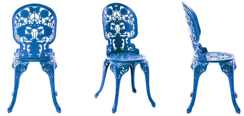 Стул Seletti Industry Collection ALUMINIUM CHAIR – SKY BLUE  - фото 3