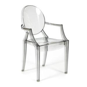 Стул Transparent Chair серый