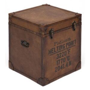 Сундук Vintage buffalo leather chest