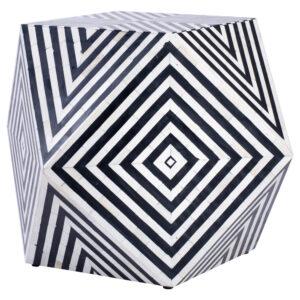 Табурет Geometric Cube Table Инкрустация кость