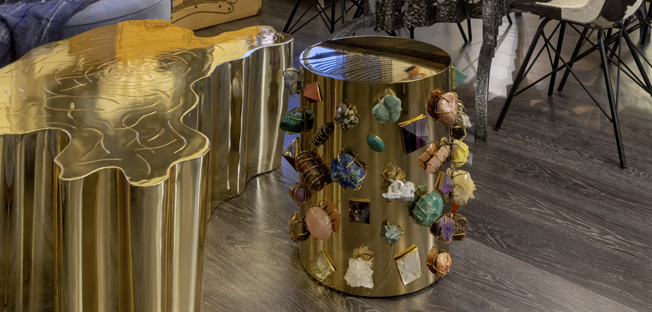 Табурет с полудрагоценными камнями Kelly Wearstler BEJEWELED STOOL  designed by Kelly Wearstler  - фото 3