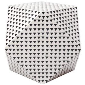 Triangular Black and White Geometric side table
